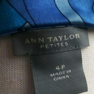 Ann Taylor Tops - ANN TAYLOR TOP BLOUSE SLEEVES LESS 4P